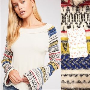 Free People Thermal with Sweater Arms